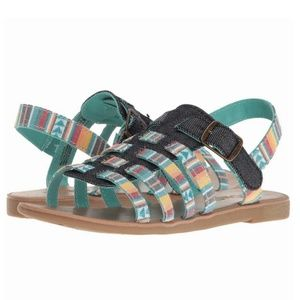 [4] Tom's - Hurache Stripe Sandals